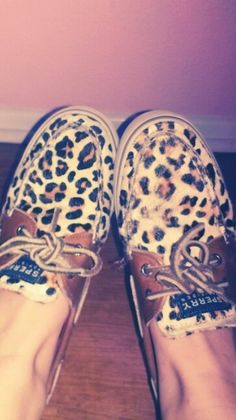 Cheetah Sperrys. MY PICTURE.