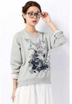 léna BZR プリントスウェットプルオーバー / Printed Sweatshirt on ShopStyle