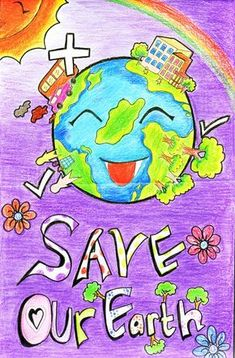 Poster On Save Earth Idea Painting Save Environment Poster Drawing, Save Environment Posters, Global Warming Drawing, Global Warming Poster, Global Warming Project, Planet Drawing, Earth Drawings, Save Planet Earth, Save Our Earth