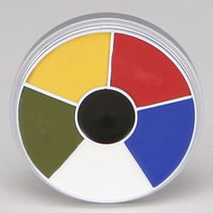 Kryolan - Rainbow Circle w/ 6 colors Cream Makeup - 1306