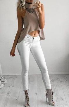 taupe + white #blankdenim