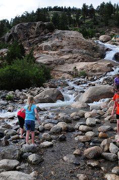 Kids playing at Alluvial Fan Estes Park Colorado
