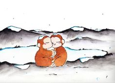 Happy new year everyone!! Well, it is the year of the monkey–staying warm at an onsen, hot spring!!