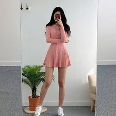 78 cute hipster outfits for girls that will fascinate you 7 Hipster Outfits, Teen Fashion Outfits, Korean Outfits, Cute Casual Outfits, Girly Outfits, Cute Fashion, Asian Fashion, Casual Dresses, Vintage Outfits