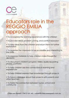 Reggio Emilia Inspired Teachers