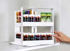 This beautiful spice rack allows for easy organisation of all your spices with twenty spaces to fillIt comes ready to use, needing no assemblyDimensions: x x 1 cmColours: whiteComposition: other materials Kitchen Organization Wall, Spice Organization, Kitchen Storage, Organizing, Wall Storage Shelves, Jar Storage, Storage Rack, Kitchen Spice Racks, Spice Jars