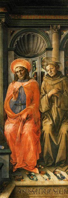 Madonna Enthroned with Saints (detail) c. 1445 Tempera on wood Galleria degli Uffizi, Florence