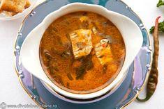 ciorba-de-pui-cu-tarhon Romanian Food, Romanian Recipes, Thai Red Curry, Food And Drink, Ethnic Recipes