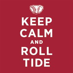 It's officially August!  That means it's almost football season.  ROLL TIDE!!