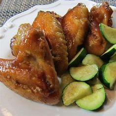 Honey Garlic Chicken Wings Allrecipes.com