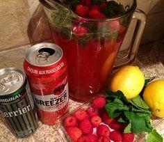 Mint Berry Lemonade Cocktail