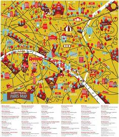 Crumple Map of Paris by Palomar (it crumples!) The Travelling Tot Paris Map, Paris City, Paris France, Book City, Travel Illustration, Map Design, Graphic Design, Layout, Information Graphics