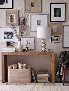 Winfield Thybony Herringbone Wood Veneer Wallpaper