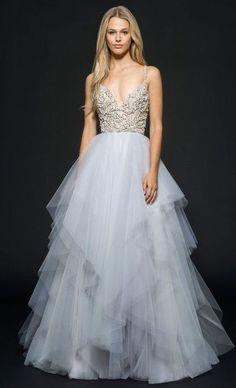 Featured Dress: Hayley Paige; Wedding dress idea.