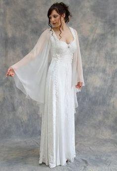 White Medieval dress