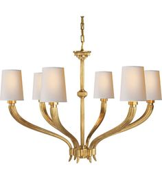 Visual Comfort CHC2462AB-NP E.F. Chapman Ruhlmann 6 Light 35 inch Antique-Burnished Brass Chandelier Ceiling Light in Antique…