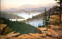 PBS Artist Jerry Yarnell 'Eagles Bluff' instructional dvd in acrylics