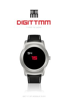 DIGITTMM to Wear #AndroidWear #watchface