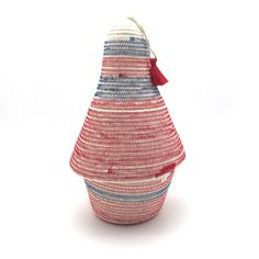 Peace Basket Ivory with Red & Blue Stitch After Hours, Cotton Rope, Sale Items, Red And Blue, Straw Bag, Ivory, Basket, Peace, Stitch