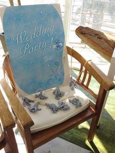「海」をテーマにした可愛らしいボードでゲストをお迎え♡夏の結婚式にぴったりの青いウェルカムボードにまとめ一覧♡