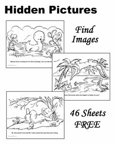Hidden Pictures - Free and Printable!