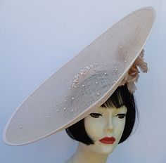 Dramatic profile hat for the Derby or Ascot!