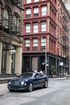 The Bentley Mulsanne on the streets of New York for 'The Future of Style'.