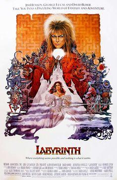 Dentro del laberinto (1986) de Jim Henson (http://ultracuerpos.com/fichas/dentro-laberinto-1986-jim-henson/) #pelicula #movie #film #jimhenson #puppets
