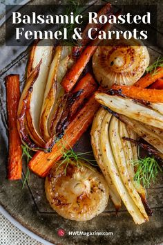 Balsamic Roasted Fennel and Carrots – Healthy World Cuisine Balsamic Roasted Fennel and Carrots is a super easy autumn side dish with roasted fennel, carrots, Cipollini onions and a delicious white balsamic herb dressing. Healthy Recipes, Veggie Recipes, Vegetarian Recipes, Cooking Recipes, Vegetable Sides, Vegetable Side Dishes, Carrots Healthy, Roasted Fennel, Roasted Carrots