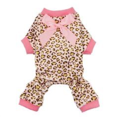 FurBaby Leopard Ribbon Soft Velvet Dog Pajamas for Pet Dog Clothes Comfy Pjs, Small - http://www.thepuppy.org/furbaby-leopard-ribbon-soft-velvet-dog-pajamas-for-pet-dog-clothes-comfy-pjs-small/