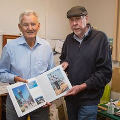 It was a great pleasure to present Lewis with a copy of The Great Ocean Road Sea Breeze and Surf. He is featured on page 33. @visitgeelongbellarine @visitgreatoceanroad @visit_victoria @queenscliff_harbour @queenscliff #seabreezeandsurf #bellarinepeninsula #greatoceanroad by bryce.dunkley