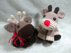 Crochet Moose or Reindeer Amigurumi pattern - $4.00 by Stitched Love Crochet