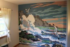 paint by number mural