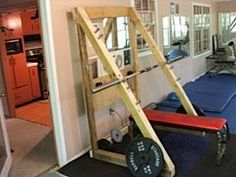 Thread Home Made Squat Rack Pictures Homemade Gym Equipment, Diy Gym Equipment, No Equipment Workout, Fitness Equipment, Home Made Gym, Diy Home Gym, Basement Gym, Garage Gym, Gym Rack