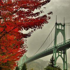 St. Johns Bridge in Portland by Instagrammer mikephotog
