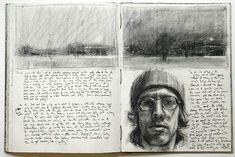 Carlos Ferguson - Artwork Archive - Sketchbook pages Sketch Journal, Artist Journal, Artist Sketchbook, Sketchbook Pages, Book Journal, Art Journals, Kunstjournal Inspiration, Sketchbook Inspiration, Travel Sketchbook