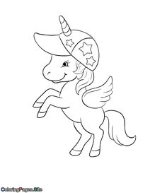 Best unicorn coloring pages coloring pages for kids to print for free Unicorn Wings, Unicorn Hat, Baby Unicorn, Baby Mermaid, Unique Coloring Pages, Coloring Pages For Kids, Adult Coloring, Online Coloring For Kids, Online Coloring Pages