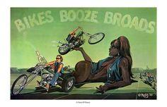 "ED ROTH ""A Taste Of Honey"" print stores.ebay.com/rockabillyhoodlum #edroth #edbigdaddyroth #davemann #davidmann #chopper #motorcycle #biker #bikerchick #60s #kustomkulture #art"