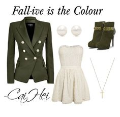 """""""Fall-ive is the Colour"""" by caihei on Polyvore featuring Balmain, Gucci, Tiffany & Co. and CHARLES & KEITH"""