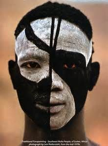 Africans With Tribal Face Markings In Black White - - Yahoo Image Search Results