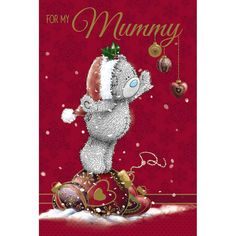 Mummy Me to You Bear Christmas Card  £2.49