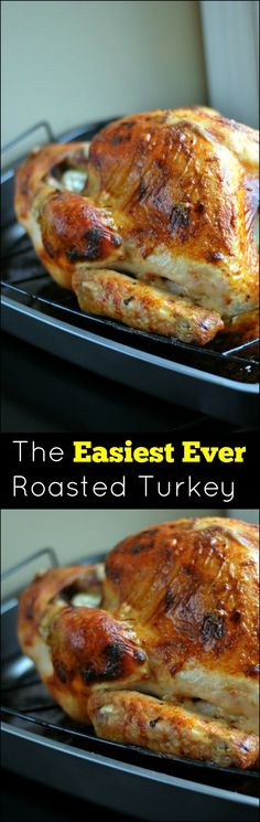 NEVER guess the secret ingredient in The EASIEST EVER Roasted Turkey! I will never baste a turkey again. Produces the most juicy and flavorful Thanksgiving holiday turkey ever! Turkey Recipes, Meat Recipes, Chicken Recipes, Cooking Recipes, Yummy Recipes, Crockpot Recipes, Thanksgiving Recipes, Holiday Recipes, Recipes