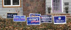 Campaign Signs Make A Comeback Political Signs, Campaign Signs, New Shows, Sign Design, Comebacks, Politics