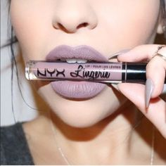 Lavender Grey - Pretty Matte Lipstick Colors for Fall - Photos