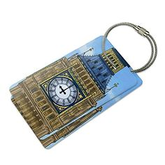 Big Ben Clock Tower London England Suitcase Bag ID Luggage Tag Set >>> Check out the image by visiting the link.Note:It is affiliate link to Amazon. #liker