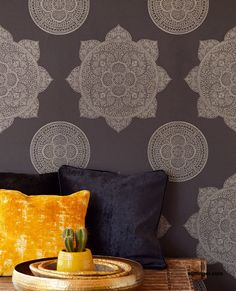 Contemporary Wallpaper, pattern number from the LOUNGE range. Interior, Home Decor Decals, Pattern Wallpaper, Contemporary, Wallpaper, Tapestry, Contemporary Wallpaper, Color Trends, Lounge