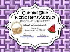 This activity includes exercises for children learning and expanding use of communication boards, icons, and AAC. It may also be used to target expanding vocabulary and length of utterances with verbal students. This activity packet may be used by SLPs as well as special education teachers and targets matching, requesting, relating experiences and information, answering questions, following directions, categorizing, prepositions, and developing understanding and use of icons.