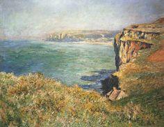 Claude Monet - Cliff at Varengeville (1882)