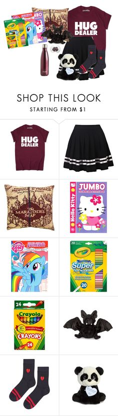 """""""Untitled #1870"""" by cheesinjuliet ❤ liked on Polyvore featuring Hot Topic, Hello Kitty, My Little Pony, Ganz, Topshop, Precious Moments and S'well"""