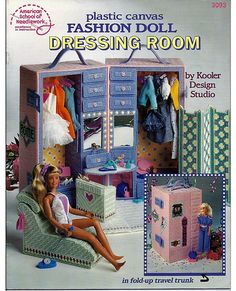 Fashion Doll Dressing Room Plastic Canvas by grammysyarngarden, $18.00